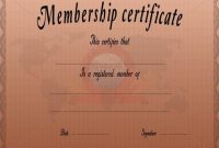 Llc Membership Certificate Template Word 9