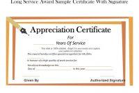 Long Service Certificate Template Sample 11