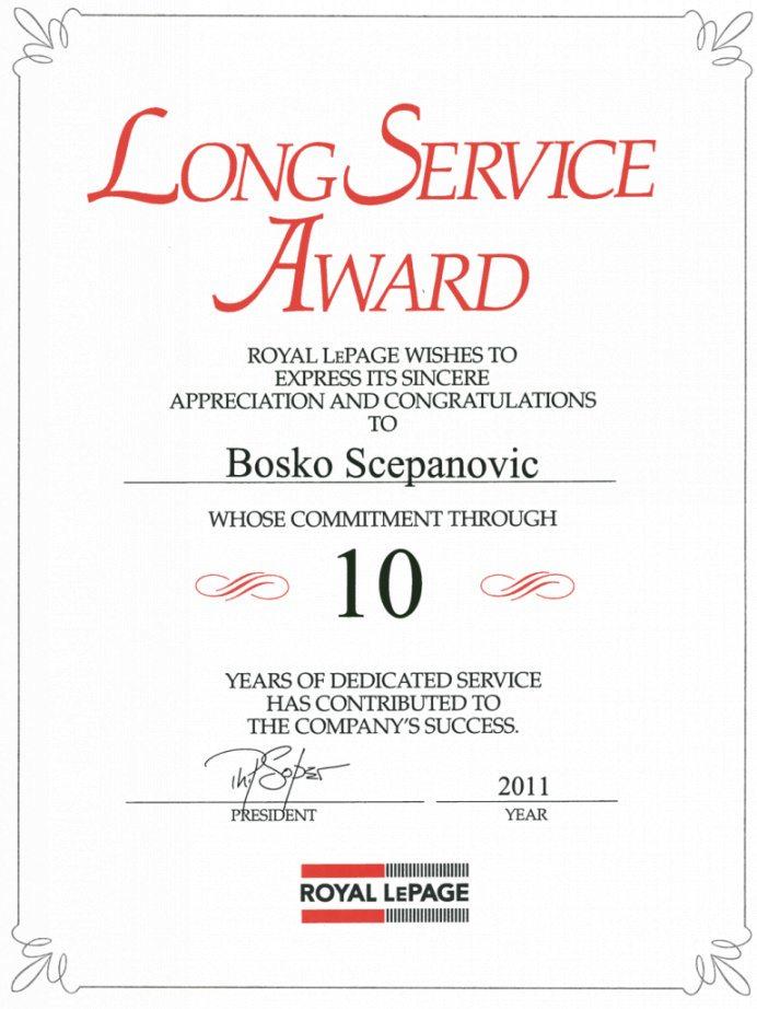 Long Service Certificate Template Sample 2