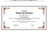 Long Service Certificate Template Sample 6