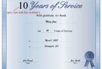 Long Service Certificate Template Sample 7