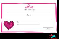 Love Certificate Templates 6