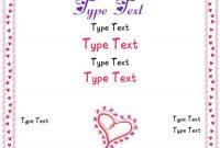 Love Certificate Templates 7