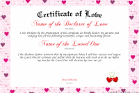 Love Certificate Templates 8