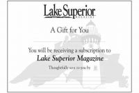 Magazine Subscription Gift Certificate Template 11