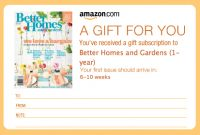 Magazine Subscription Gift Certificate Template 2