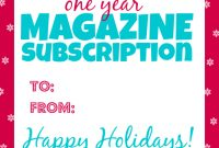 Magazine Subscription Gift Certificate Template 5