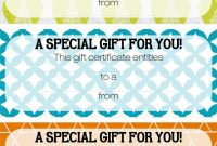 Magazine Subscription Gift Certificate Template 6