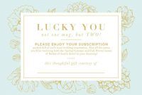 Magazine Subscription Gift Certificate Template 7