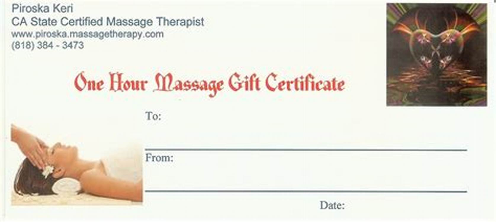 Massage Gift Certificate Template Free Printable 11