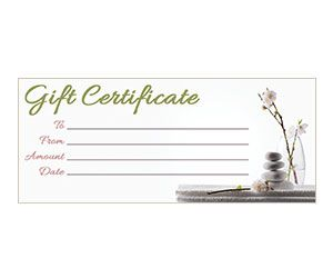 Massage Gift Certificate Template Free Printable 2