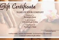 Massage Gift Certificate Template Free Printable 3