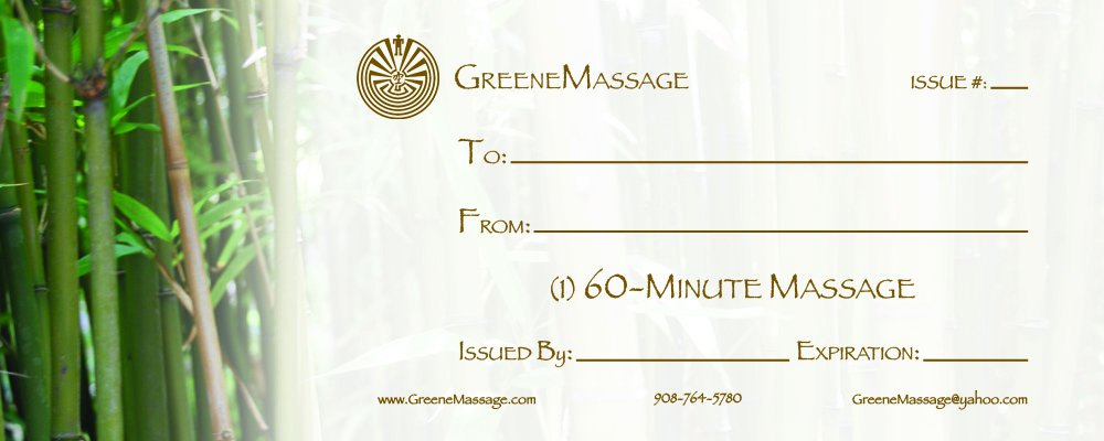 Massage Gift Certificate Template Free Printable 4