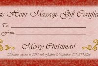 Massage Gift Certificate Template Free Printable 5