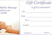 Massage Gift Certificate Template Free Printable 7