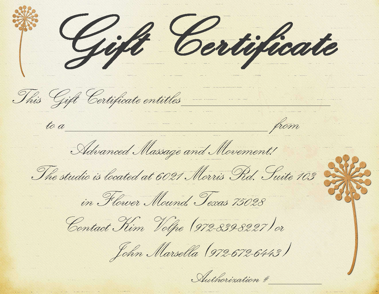 Massage Gift Certificate Template Free Printable 8
