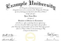 Masters Degree Certificate Template 10