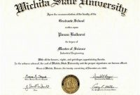 Masters Degree Certificate Template 3