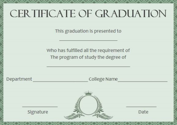Masters Degree Certificate Template 5