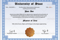Masters Degree Certificate Template 6