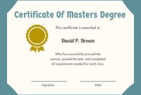 Masters Degree Certificate Template 7