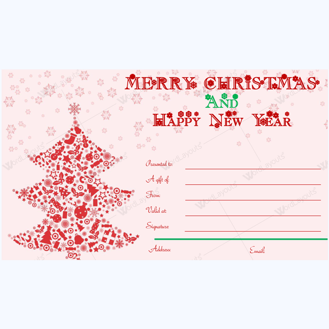 Merry Christmas Gift Certificate Templates 7