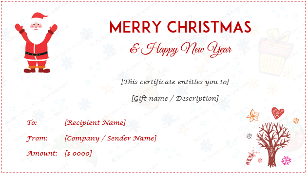 Merry Christmas Gift Certificate Templates 8