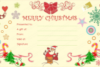 Merry Christmas Gift Certificate Templates 9