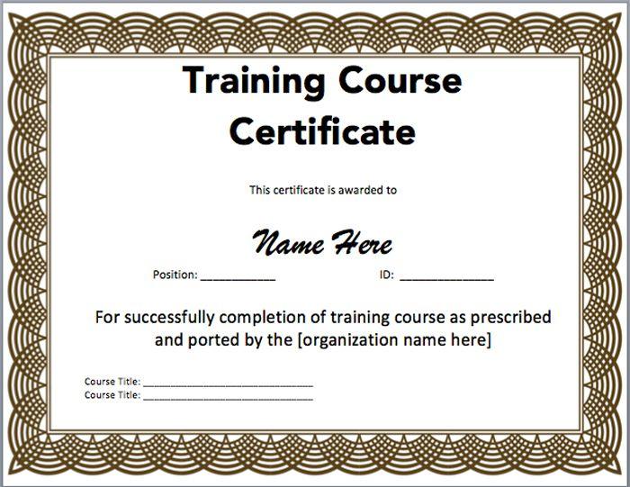 Microsoft Office Certificate Templates Free 3