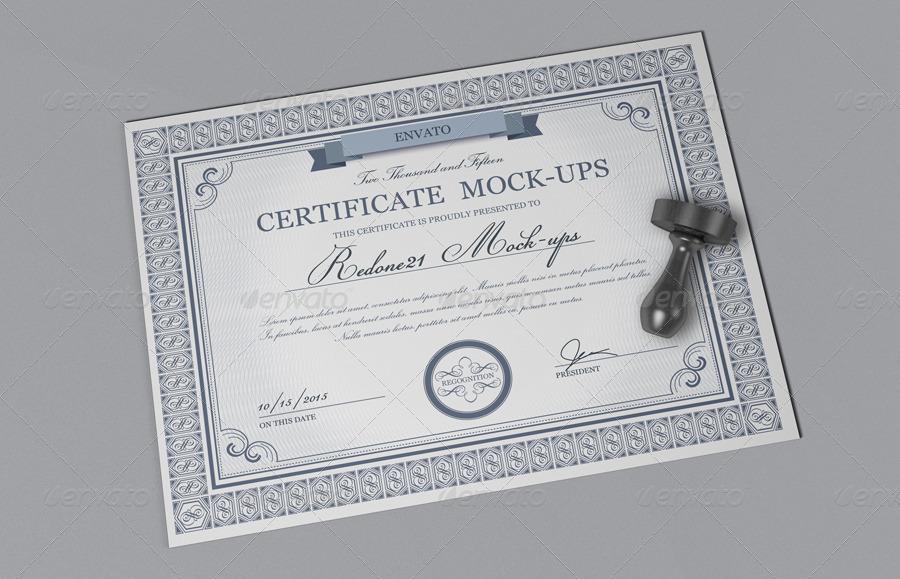 Mock Certificate Template 2