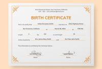 Mock Certificate Template 4
