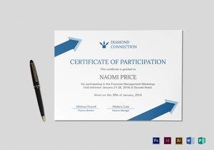 Mock Certificate Template 6
