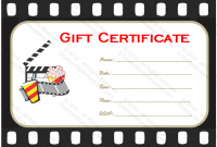 Movie Gift Certificate Template 2