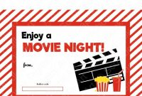 Movie Gift Certificate Template 3