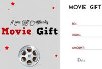 Movie Gift Certificate Template 6