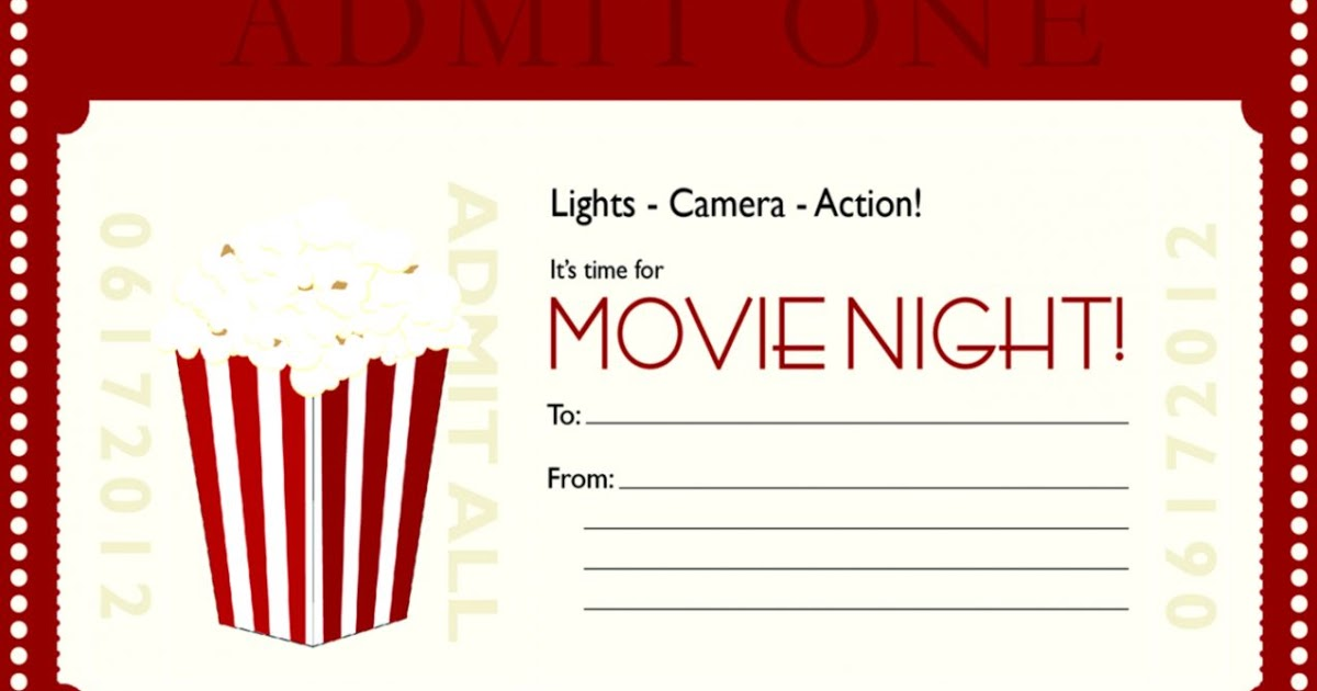 Movie Gift Certificate Template 8