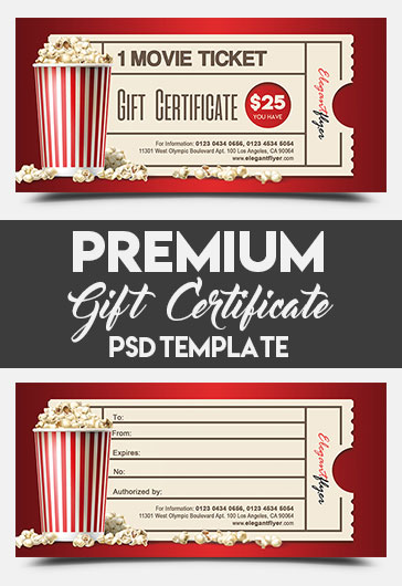 Movie Gift Certificate Template 9