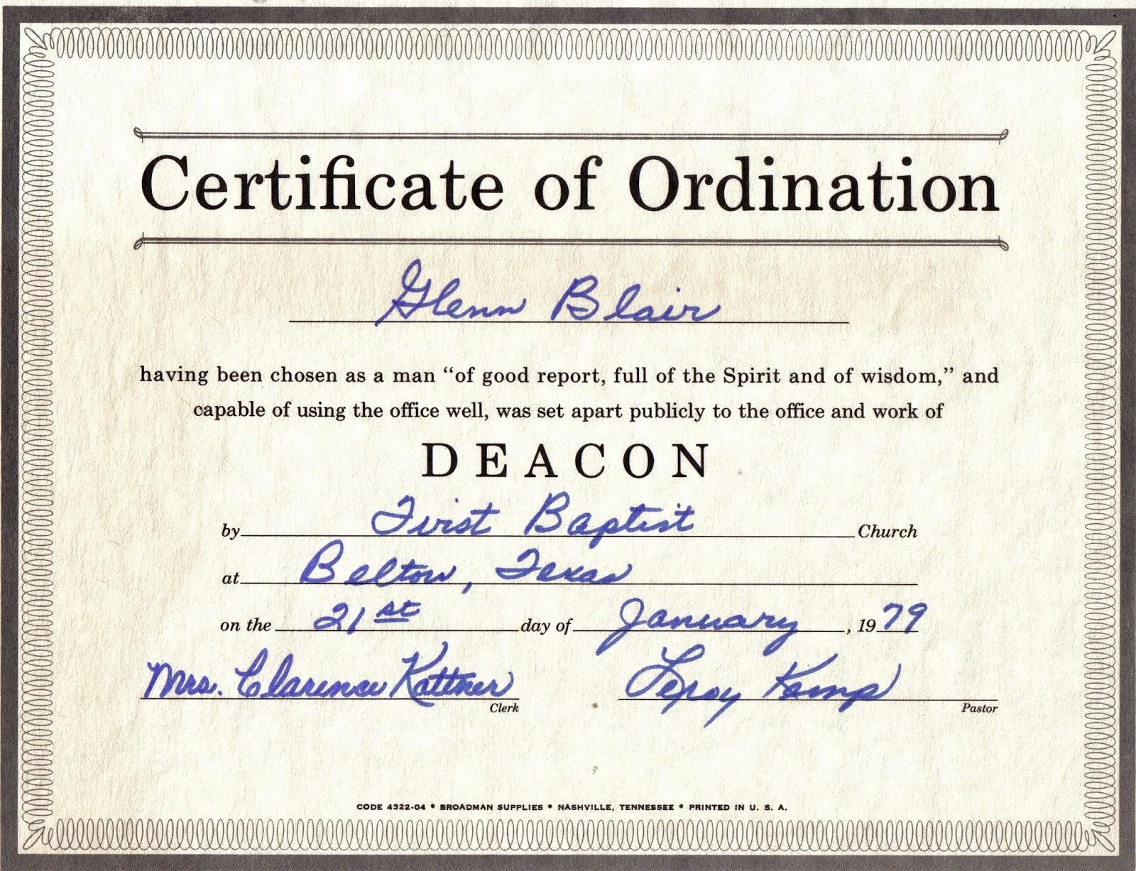 Ordination Certificate Template 11