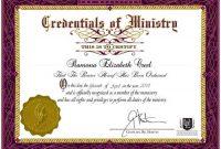 Ordination Certificate Template 3