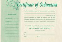 Ordination Certificate Template 5