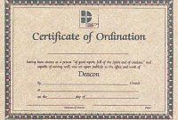 Ordination Certificate Template 6