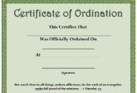 Ordination Certificate Template 9