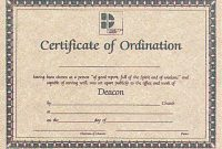 Ordination Certificate Templates 4