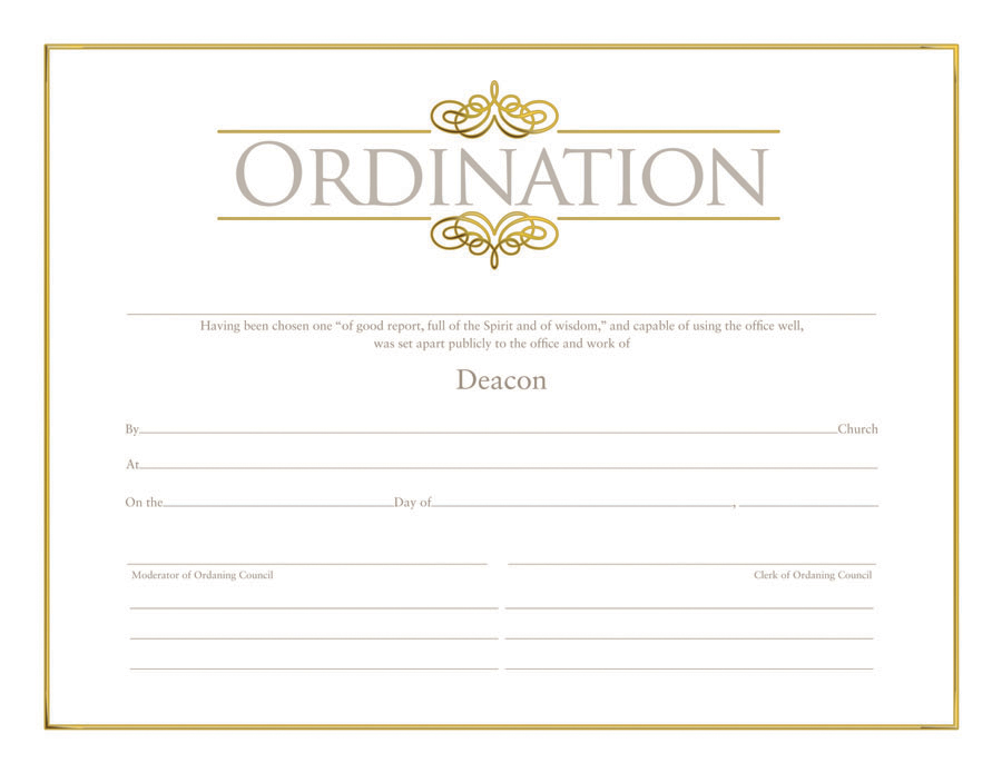 Ordination Certificate Templates 6