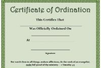 Ordination Certificate Templates 7