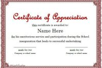 Participation Certificate Templates Free Download 10