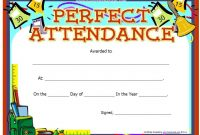 Perfect attendance Certificate Free Template 2