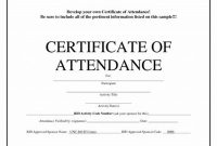 Perfect attendance Certificate Free Template 4