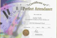 Perfect attendance Certificate Free Template 9
