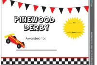Pinewood Derby Certificate Template 10